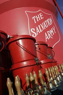 Salvation Army, Red Kettle, Charitable donations, bell ringers
