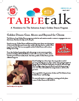 Read The Salvation Army Golden Diners Newsletter online - Table Talk