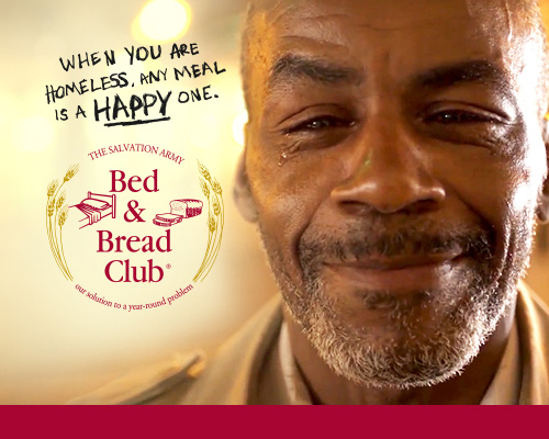 The Salvation Army Bed and Bread Club. Fight hunger and homelessness for $20 a month.