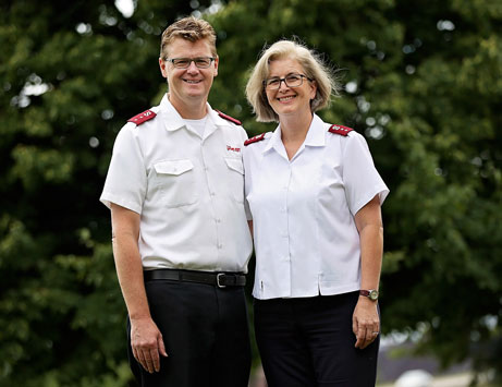The Salvation Army officers for Duluth, Captains Bryan and Teri Ellison