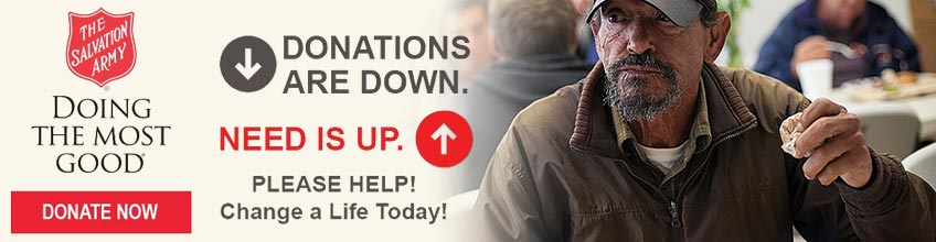 Donations are down. Need is up.  PLEASE HELP! Change a Life Today! [DONATE NOW]