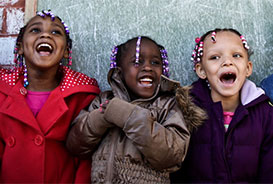 African American Children Smiling