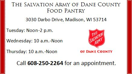 Dane County Changes To The Salvation Army Of Dane County Food