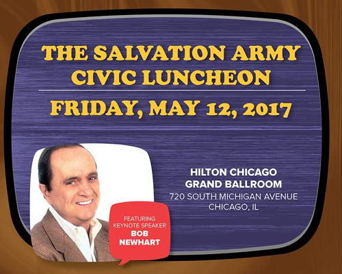 Friday, May 12, 2017, The Salvation Army's annual Civic Luncheon featuring Bob Newhart