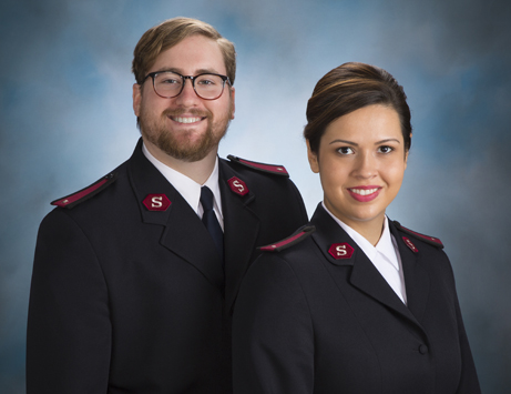 The Salvation Army officers serving Western St Paul, Lts. Jonathan and Ceamona Taube