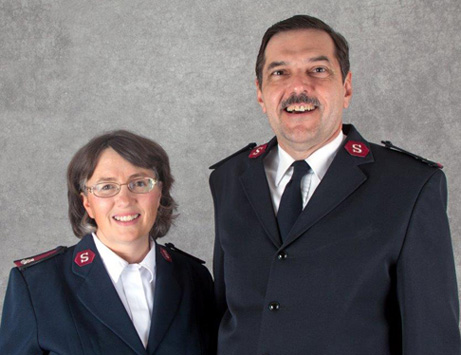 The Salvation Army serving St. Cloud, Majors Mike and Cindy Parker