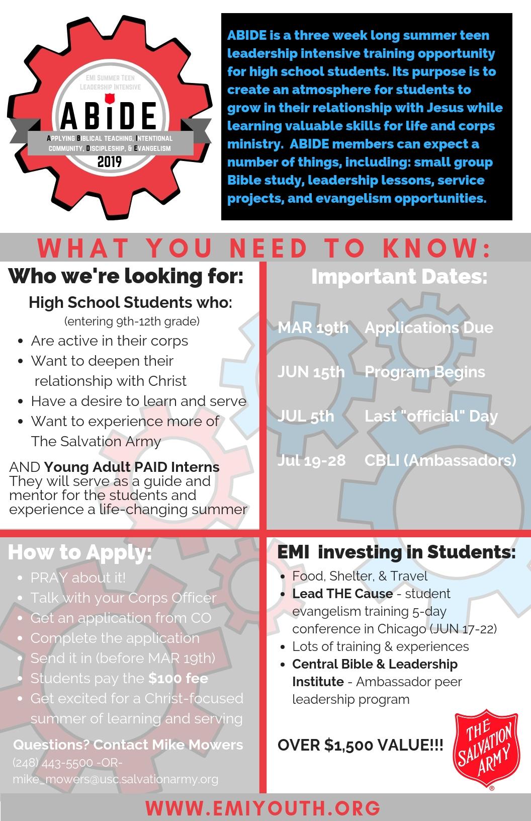 ABIDE - Eastern Michigan Youth Programs