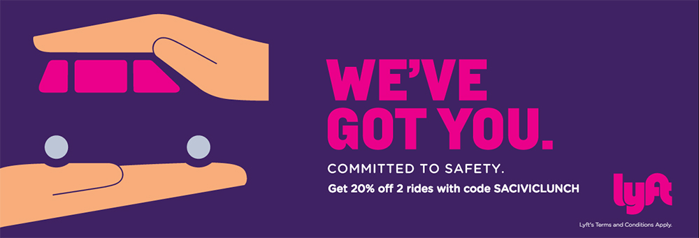 Lyft Ride Sharing Promotion Offer for The Salvation Army Civic Luncheon