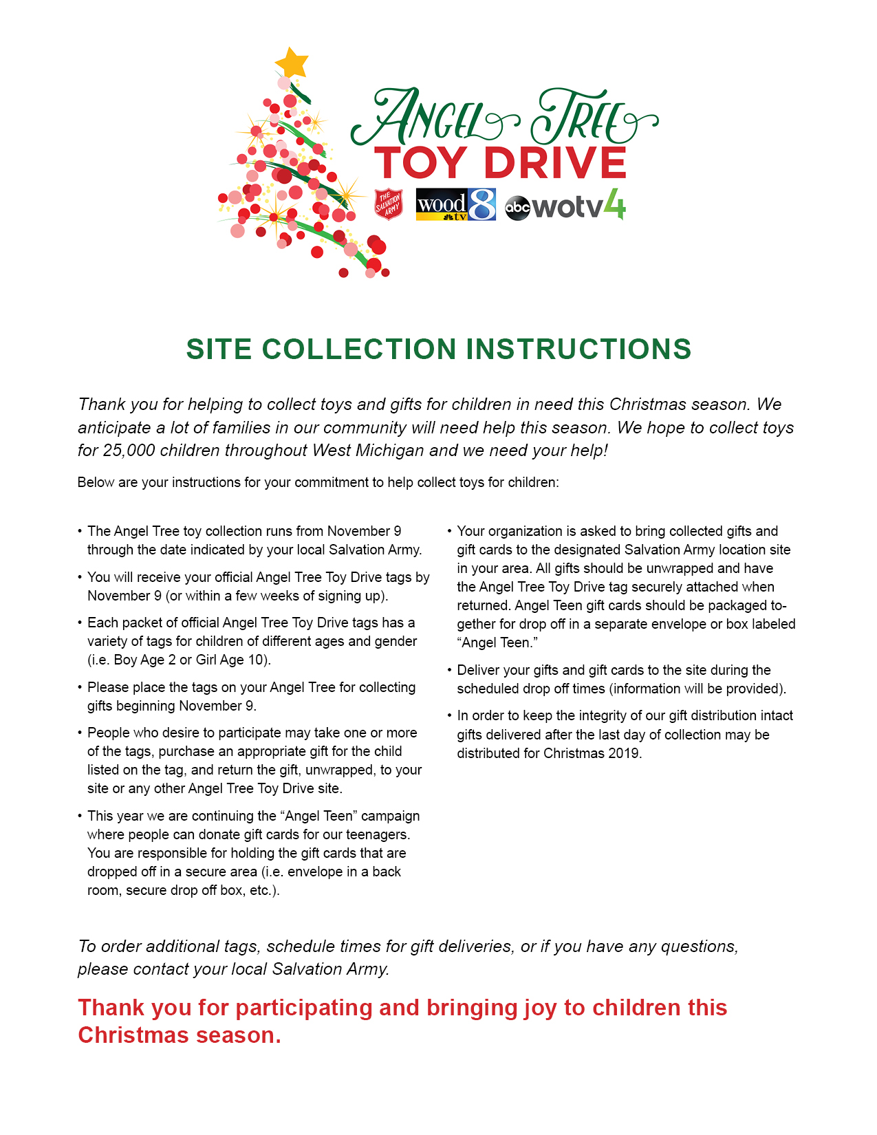 Angel Tree Resources - Western Michigan and Northern Indiana