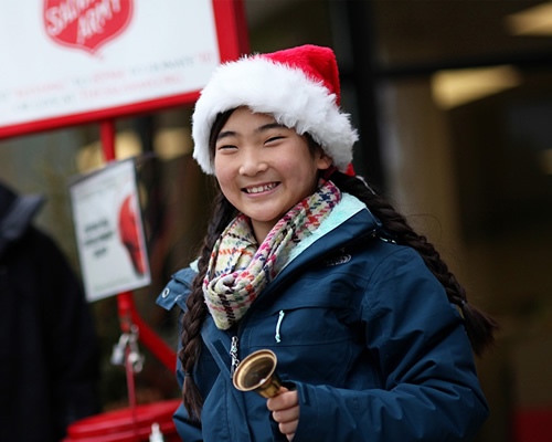 Register to Ring and volunteer at The Salvation Army Red Kettles
