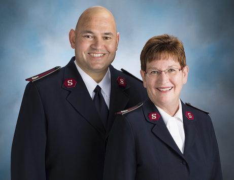 The Salvation Army officers serving Minnesota & North Dakota, Lt. Colonels Dan & Dorene Jennings
