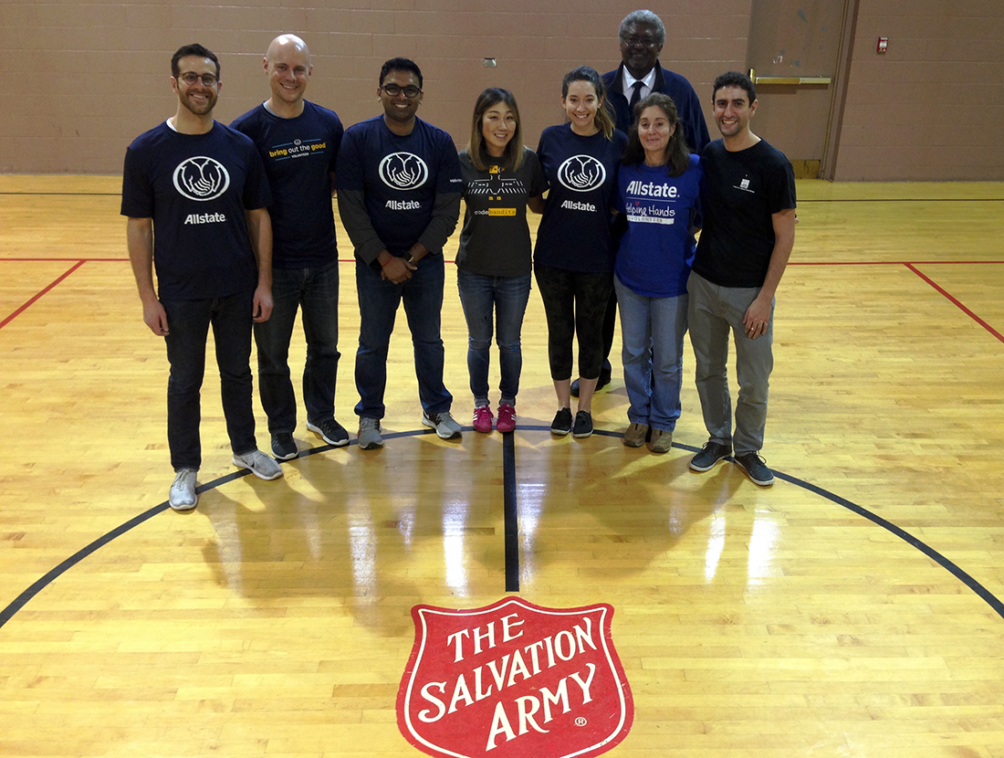 Volunteers - Allstate at The Salvation Army