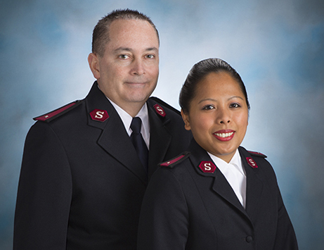 The Salvation Army Officer in Grand Forks, Lieutenants Matthew Beatty and Rona Mutcha