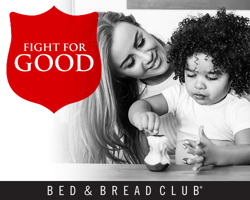 Fight for Good this Summer. The Bed & Bread Club helps struggling Chicagoans during the challenging summer months.