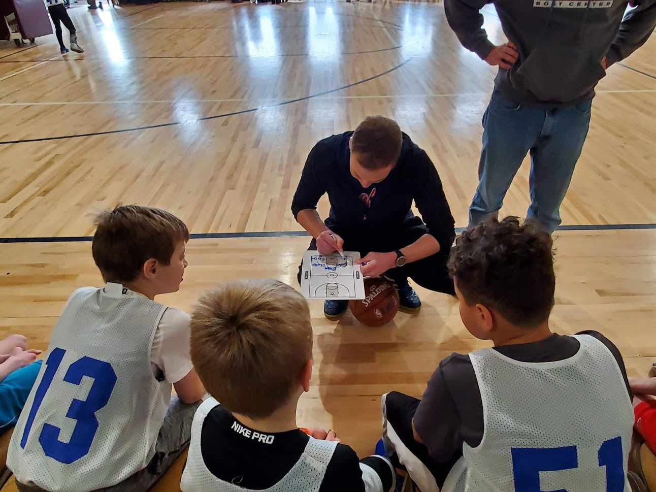 Coach drawing up a play