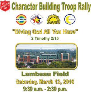Troop Rally at Lambeau Field