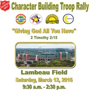 Troop Rally at Lambeau Field