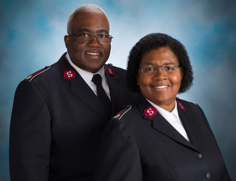 The Salvation officers serving Minnesota & North Dakota, Lt. Colonels Lonneal & Patty Richardson