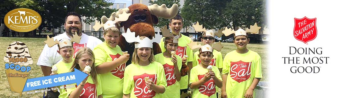 The Salvation Army of Milwaukee 10,000 Scoop Challenge with Denali and Moose Tracks Event