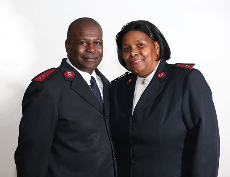 The Salvation Army officers serving Harbor Light, Captains LeOtis and LaTonya Brooks