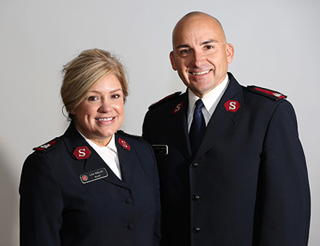 The Salvation Army officers serving Rochester, Majors Robert and Lisa Mueller