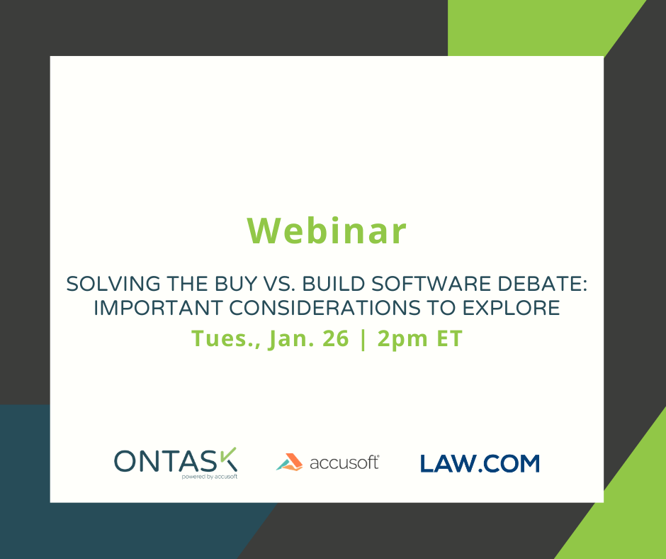 Register Buy vs. Build Software Debate for Law Firms