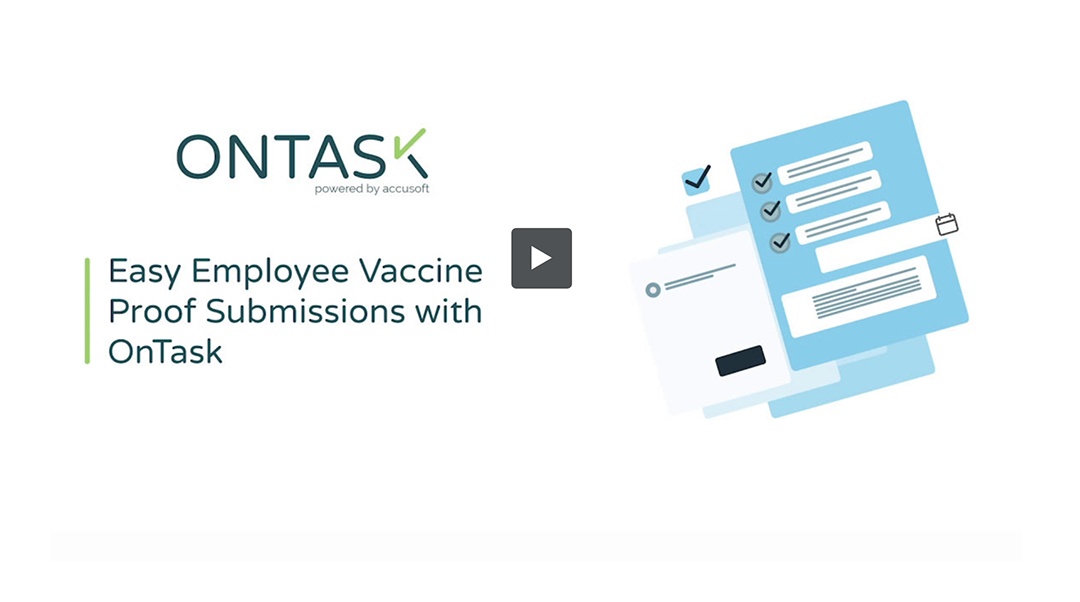 Easy Employee Vaccine Tracking with OnTask