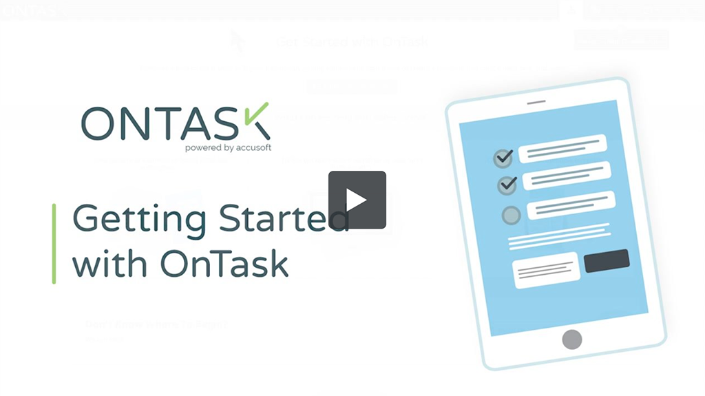 Video Getting Started with OnTask