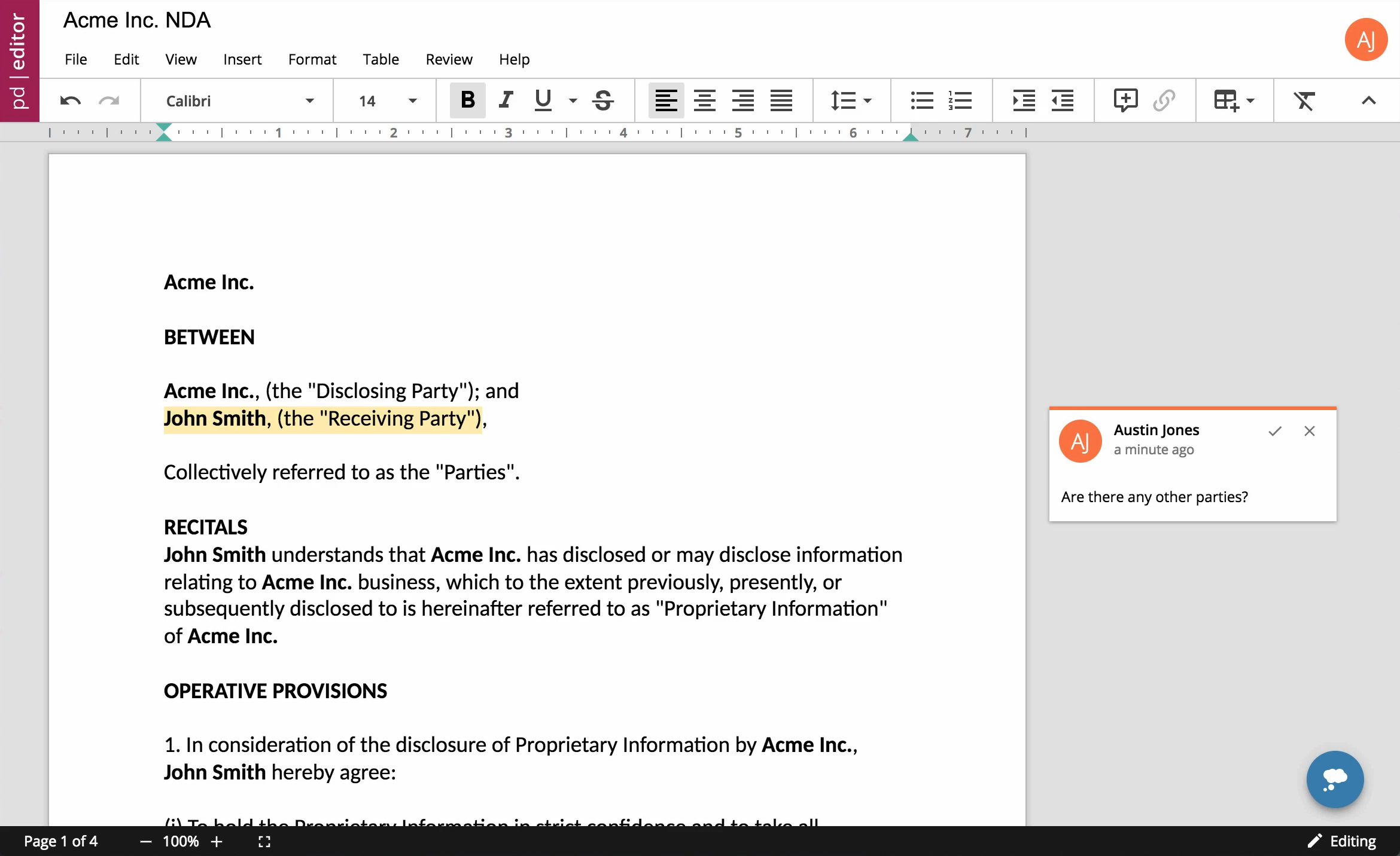 PrimzDoc Editor | In-App Document Editing & Assembly | Accusoft