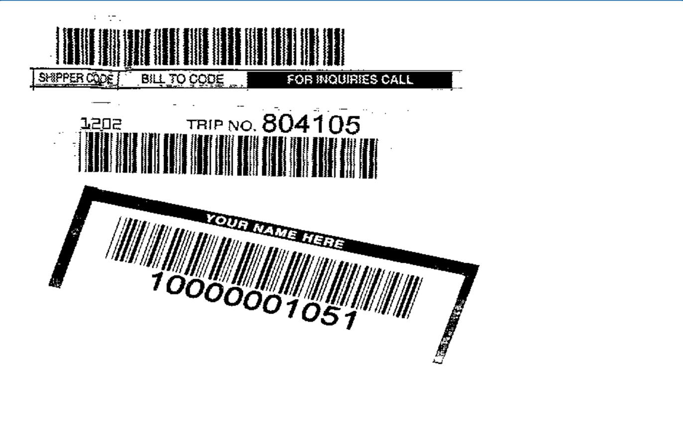 Misaligned Barcode