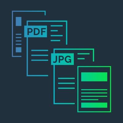 PDF to JPG icons