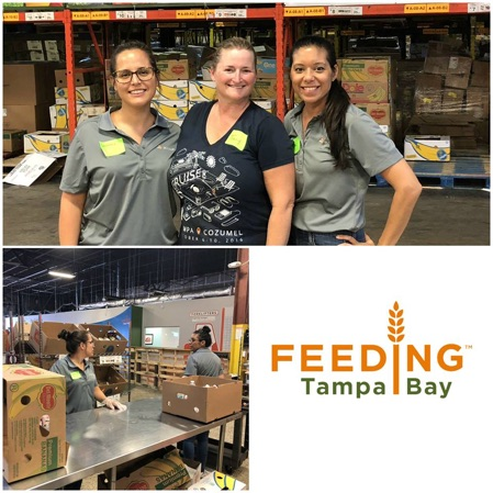 accusoft volunteers at feeding tampa bay