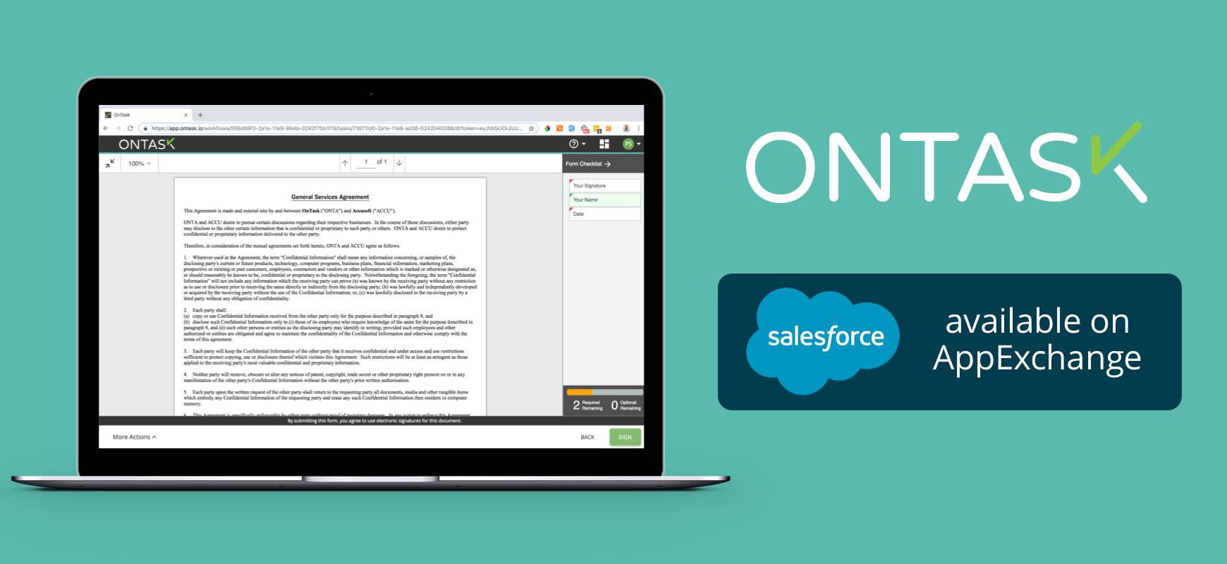 OnTask and Salesforce