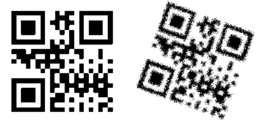 blurry QR code example