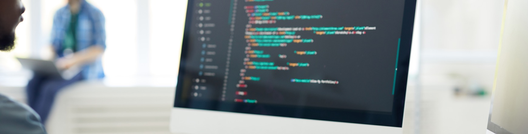 developer sitting at computer
