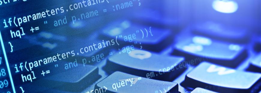 code image overlayed on a keyboard