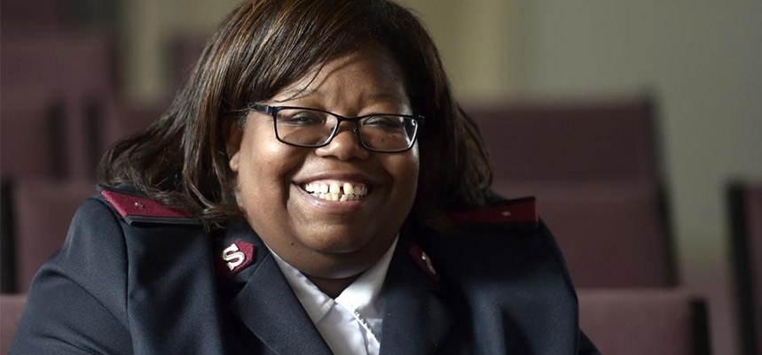 Salvation Army Officer Lt. Cheryl R. McCollum welcomed back to Norwich