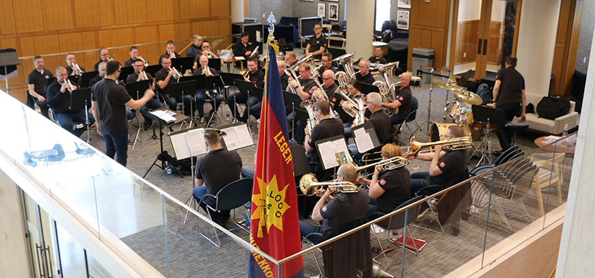 Salvation Army Amsterdam Staff Band performs at UCONN