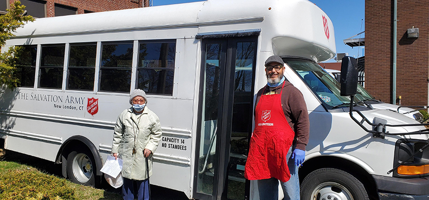Homebound Seniors Served by The Salvation Army in New London
