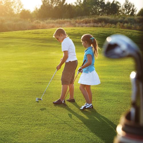 kids golfing, Chip in for kids golf scramble, ashland ohio, salvation army kroc center