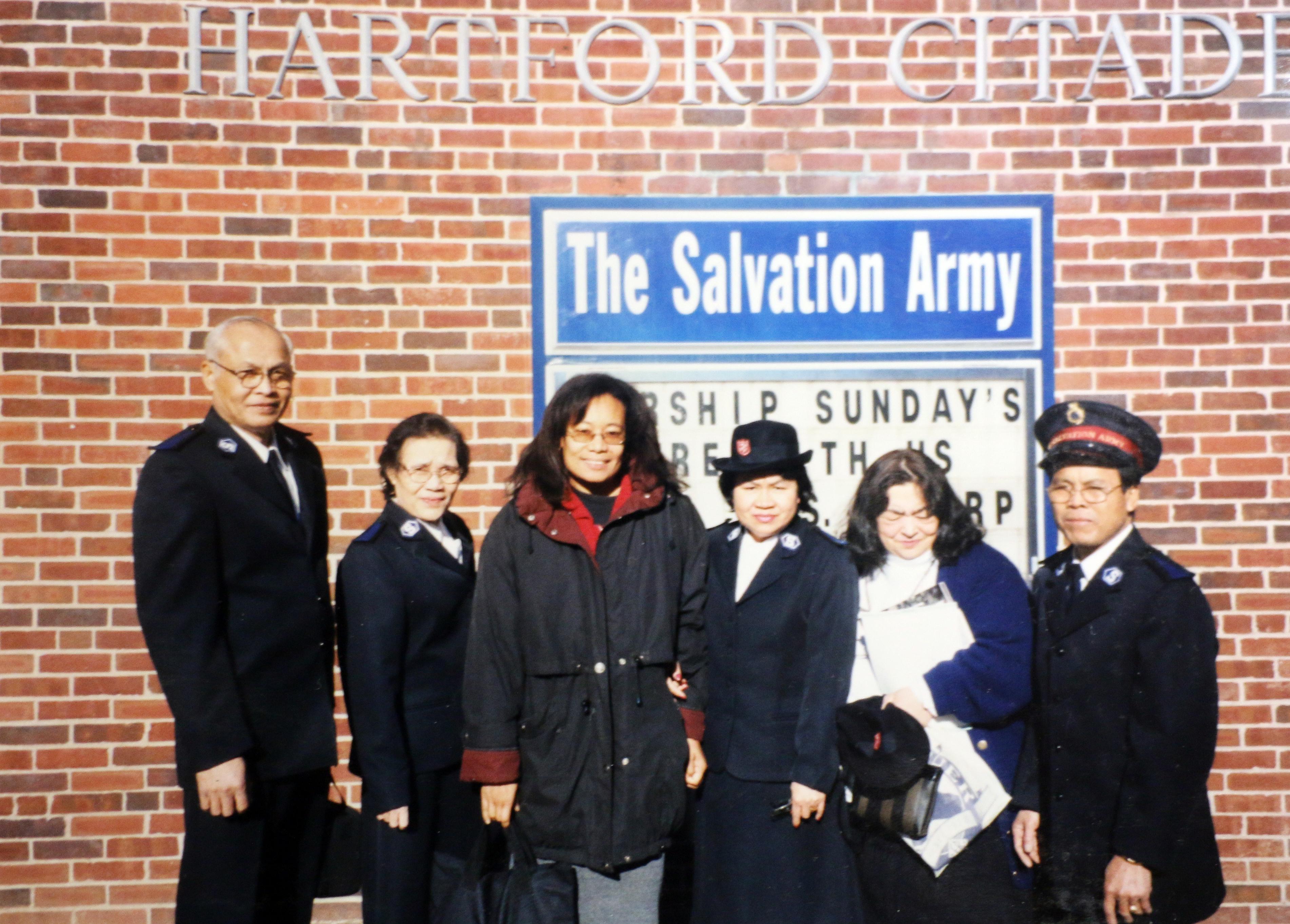 Sang Refugee Salvation Army Gives back