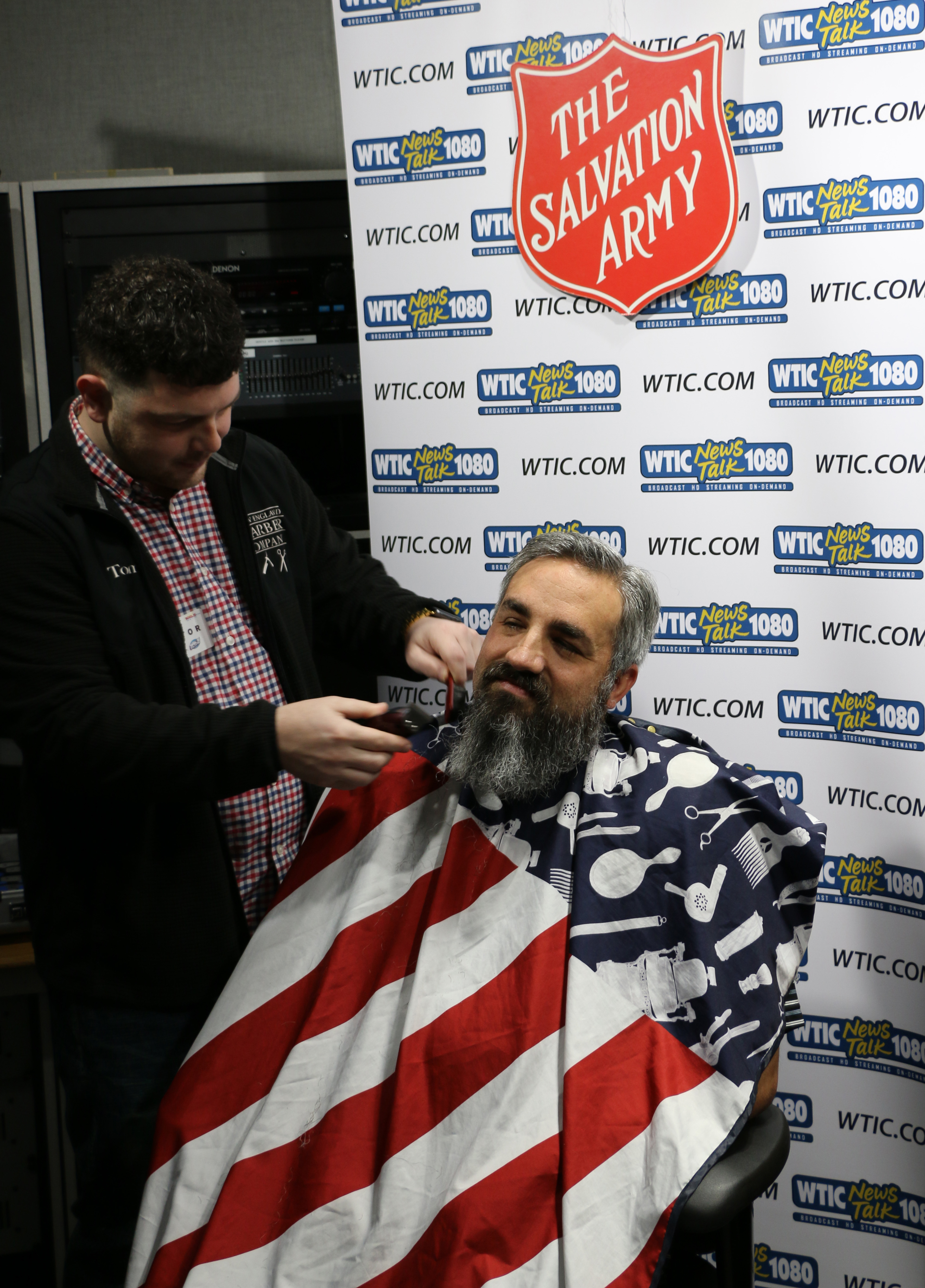 WTIC Newstalk 1080 Producer Joey Bourgoin Shaves Beard For Salvation Army