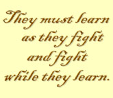 Quote: They must learn as they 