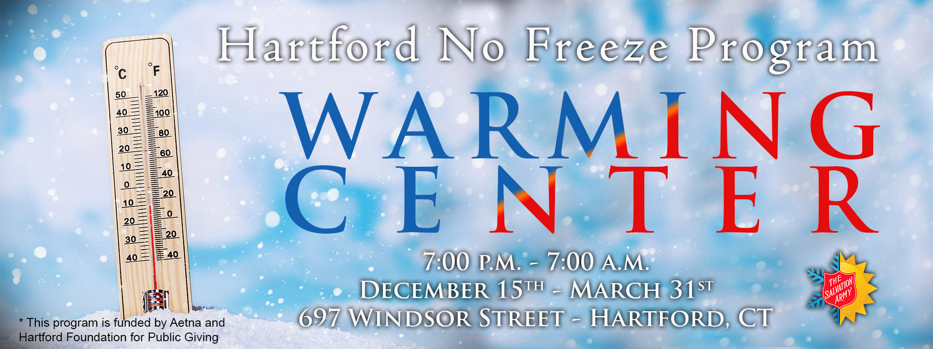 Hartford No Freeze Program offered by The Salvation Army