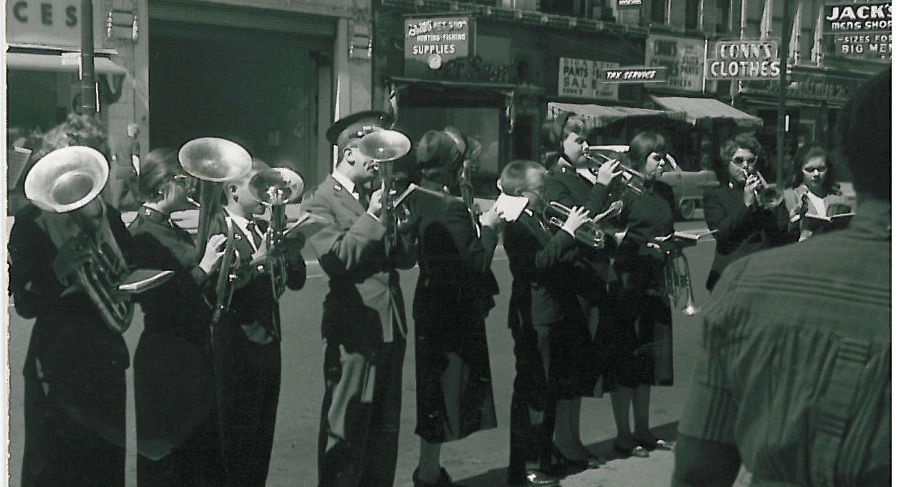 Image of first Cleveland Salvation Army brass band