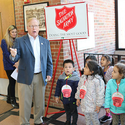 The Salvation Army in Danbury Kicks off Red Kettle Season!