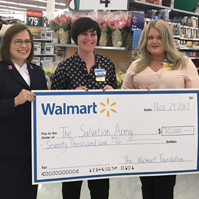 Walmart Foundation gives $70K to R.I. Salvation Army to launch ?Getting Rhode Island Healthy? program