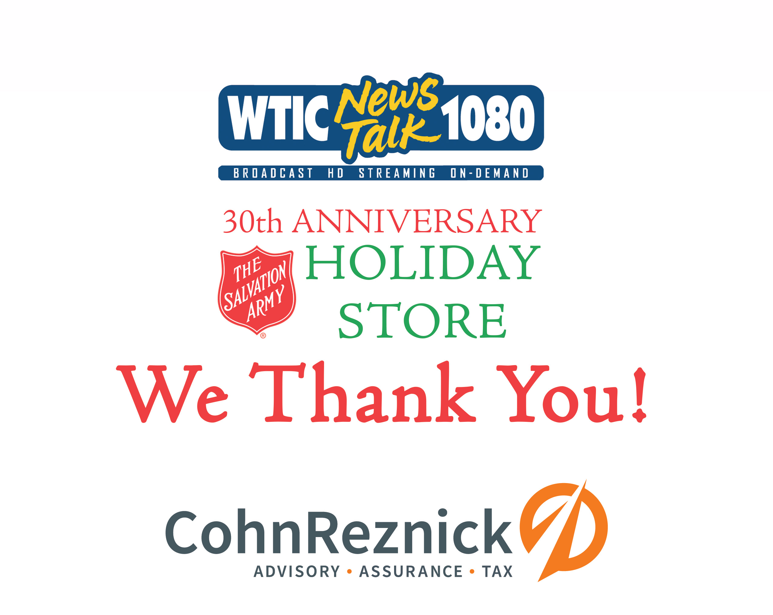 2019 WTIC Holiday Store Sponsors