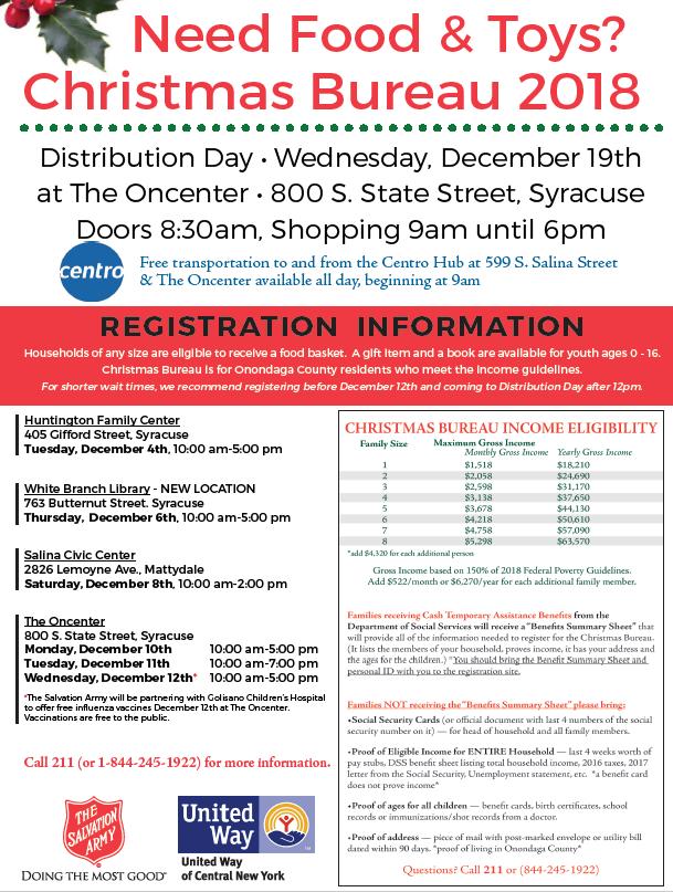 The Salvation Army | Syracuse, NY - Holiday Services