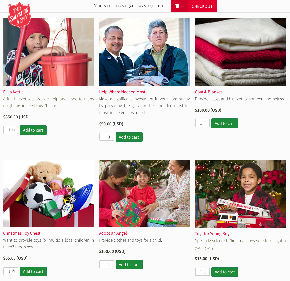 The Salvation Army Giving Catalog